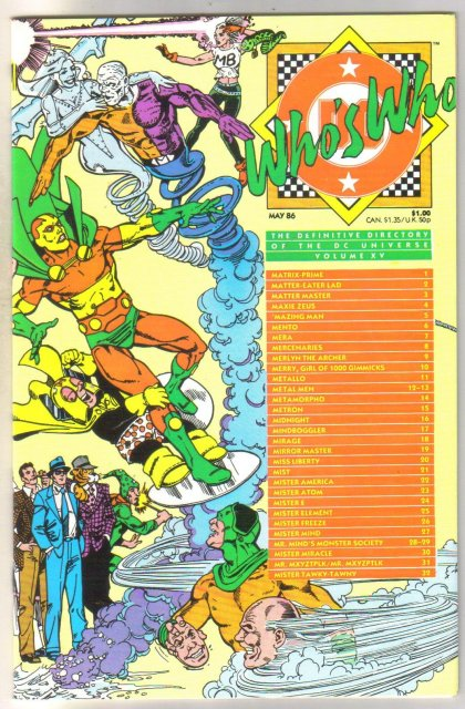 Who's Who #15 comic directory near mint 9.4
