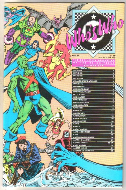 Who's Who #14 comic directory near mint 9.4
