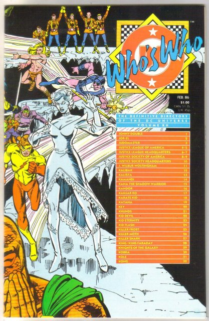 Who's Who #12 comic directory near mint 9.4