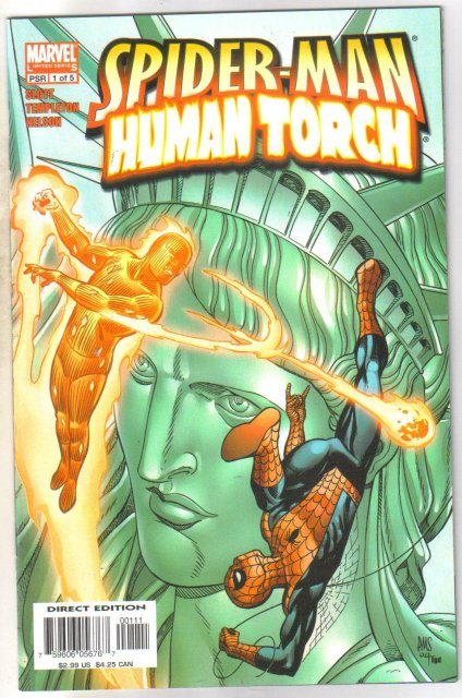 Spider-man Human Torch #1 comic book mint 9.84
