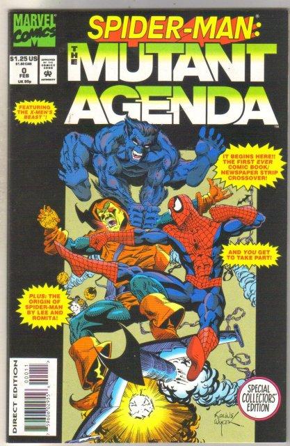Spider-man The Mutant Agenda #0 near mint 9.4