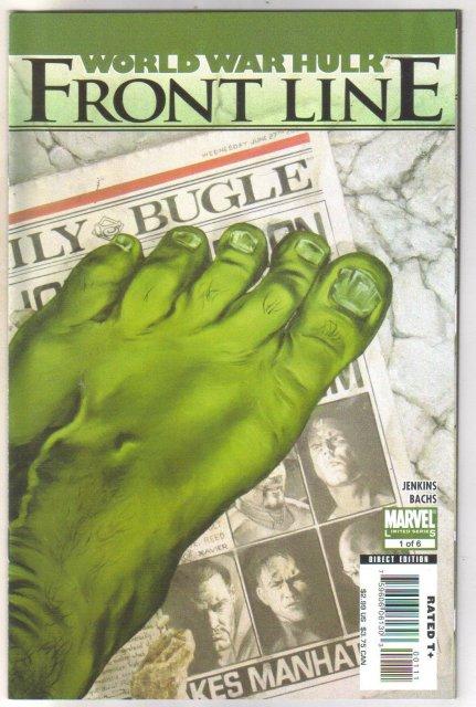 World War Hulk Frontline #1 comic book  mint 9.8
