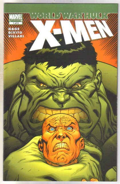 World War Hulk X-men #1 comic book  mint 9.8