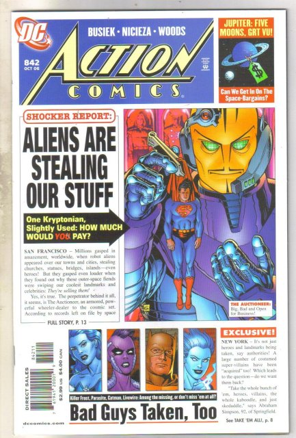 Action Comics #842 comic book mint 9.8