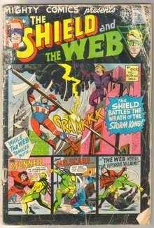 Mighty Comics Presents the Shield and the Web #43 poor but complete