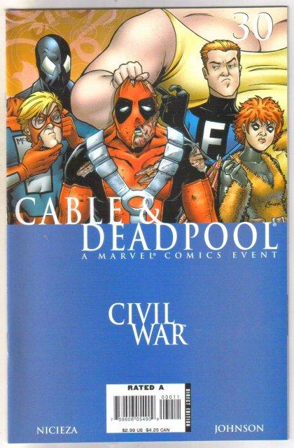 Cable & Deadpool Civil War #30 comic book mint 9.8