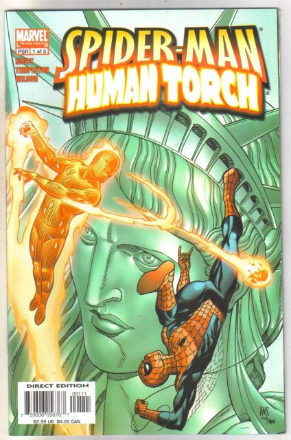Spider-man Human Torch #1 comic book mint 9.8