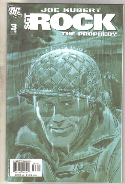 Sgt. Rock The Prophecy #3 comic book mint 9.8
