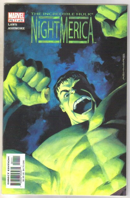 Incredible Hulk Nightmerica #1 comic book mint 9.8