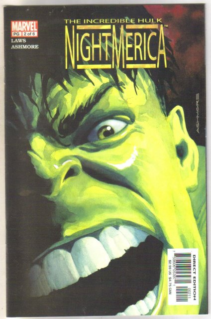 Incredible Hulk Nightmerica #2 comic book mint 9.8