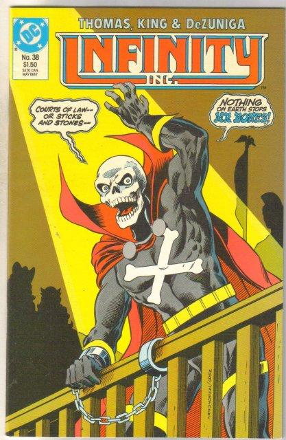 Infinity Inc. #38 comic book near mint 9.4