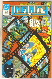 Infinity Inc. #40 comic book near mint 9.4