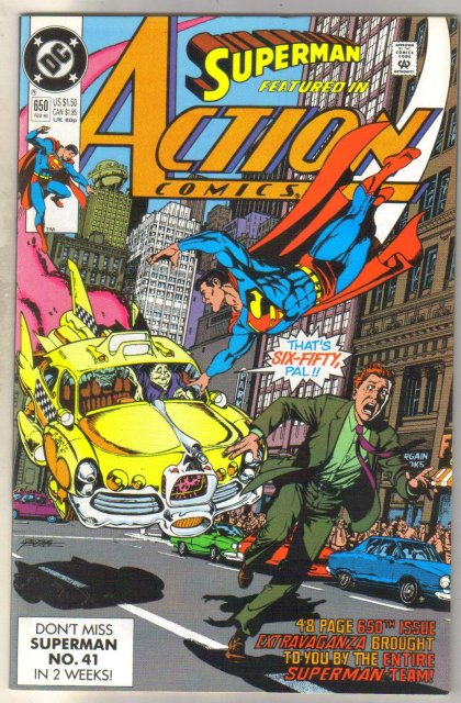 Action Comics #650 comic book near mint 9.4