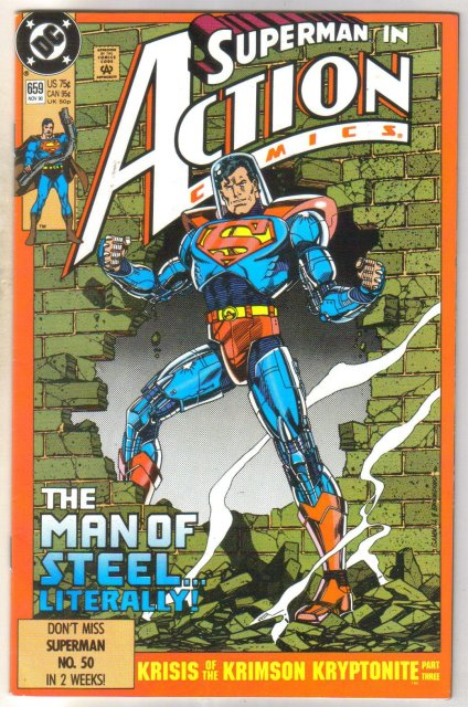 Action Comics #659 comic book near mint 9.4