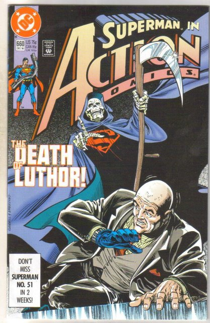 Action Comics #660 comic book near mint 9.4