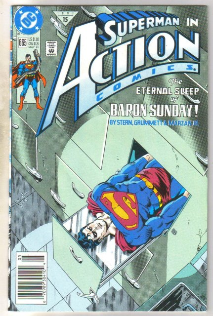 Action Comics #665 comic book near mint 9.4