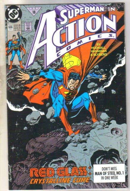Action Comics #666 comic book near mint 9.4