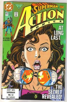 Action Comics #662 comic book near mint 9.4