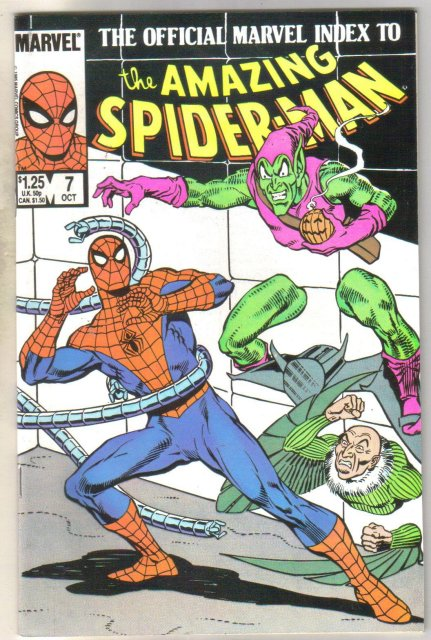 The Official Marvel Index to the Amazing Spider-man #7 comic book mint 9.8