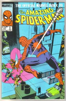 The Official Marvel Index to the Amazing Spider-man #3 comic book mint 9.8