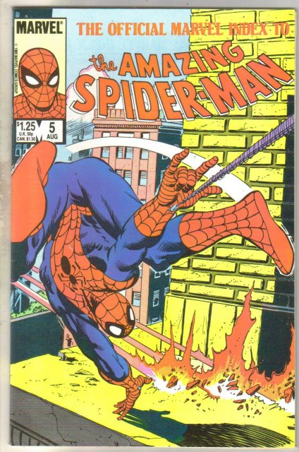 The Official Marvel Index to the Amazing Spider-man #5 comic book mint 9.8