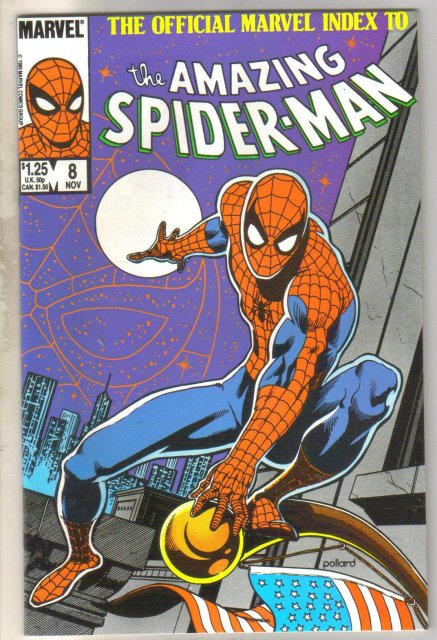 The Official Marvel Index to the Amazing Spider-man #8 comic book mint 9.8