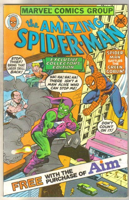 Amazing Spider-man Aim giveaway comic book very good 4.0