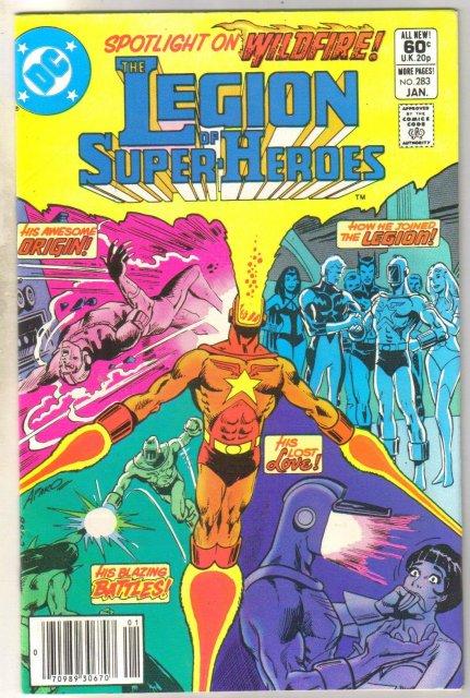 Legion of Super-heroes #283 comic book near mint 9.4