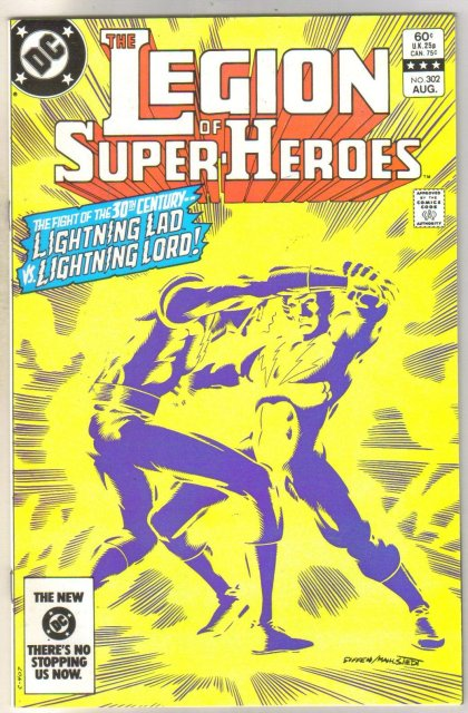 Legion of Super-heroes #302 comic book near mint 9.4