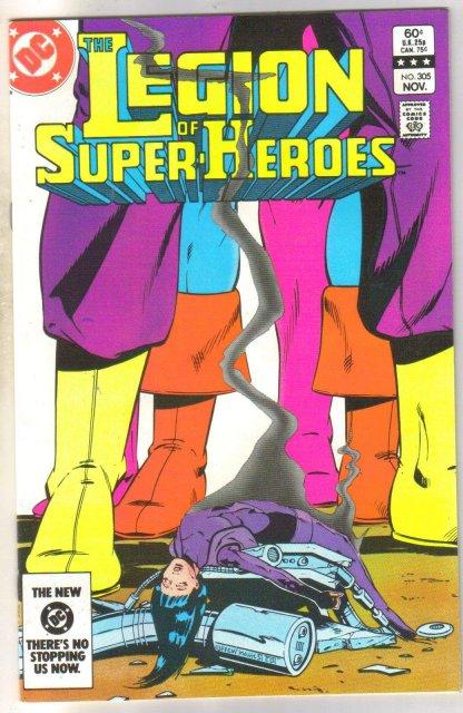 Legion of Super-heroes #305 comic book near mint 9.4