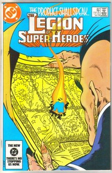 Legion of Super-heroes #307 comic book near mint 9.4