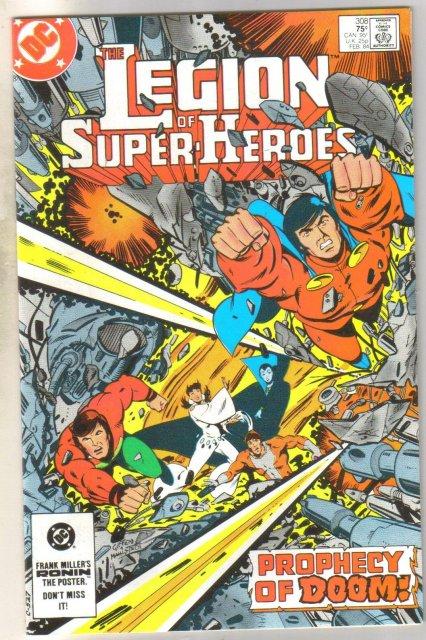 Legion of Super-heroes #308 comic book near mint 9.4