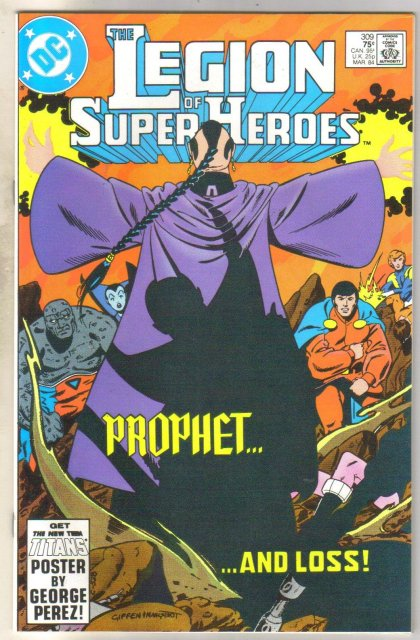 Legion of Super-heroes #309 comic book near mint 9.4