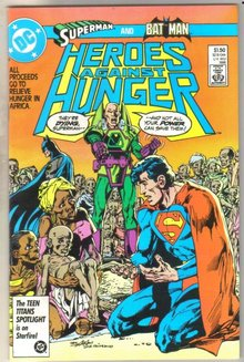 Heroes Against Hunger #1 comic book near mint 9.4