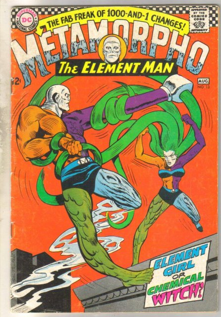 Metamorpho The Element Man #13 comic book very good 4.0