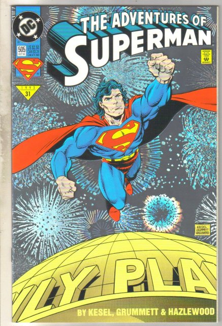 Adventures of Superman #505 comic book near mint 9.4