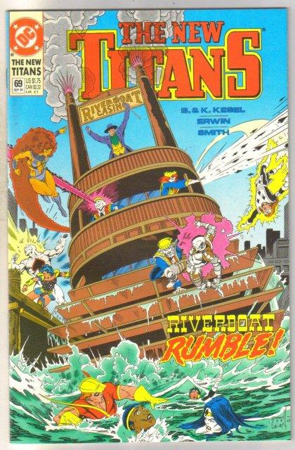 The New Titans #69 comic book mint 9.8