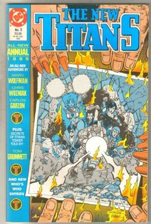 The New Titans Annual #5 comic book mint 9.8