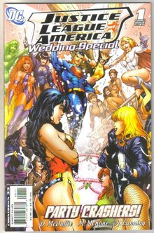 Justice League of America Wedding Special #1 comic book near mint 9.4