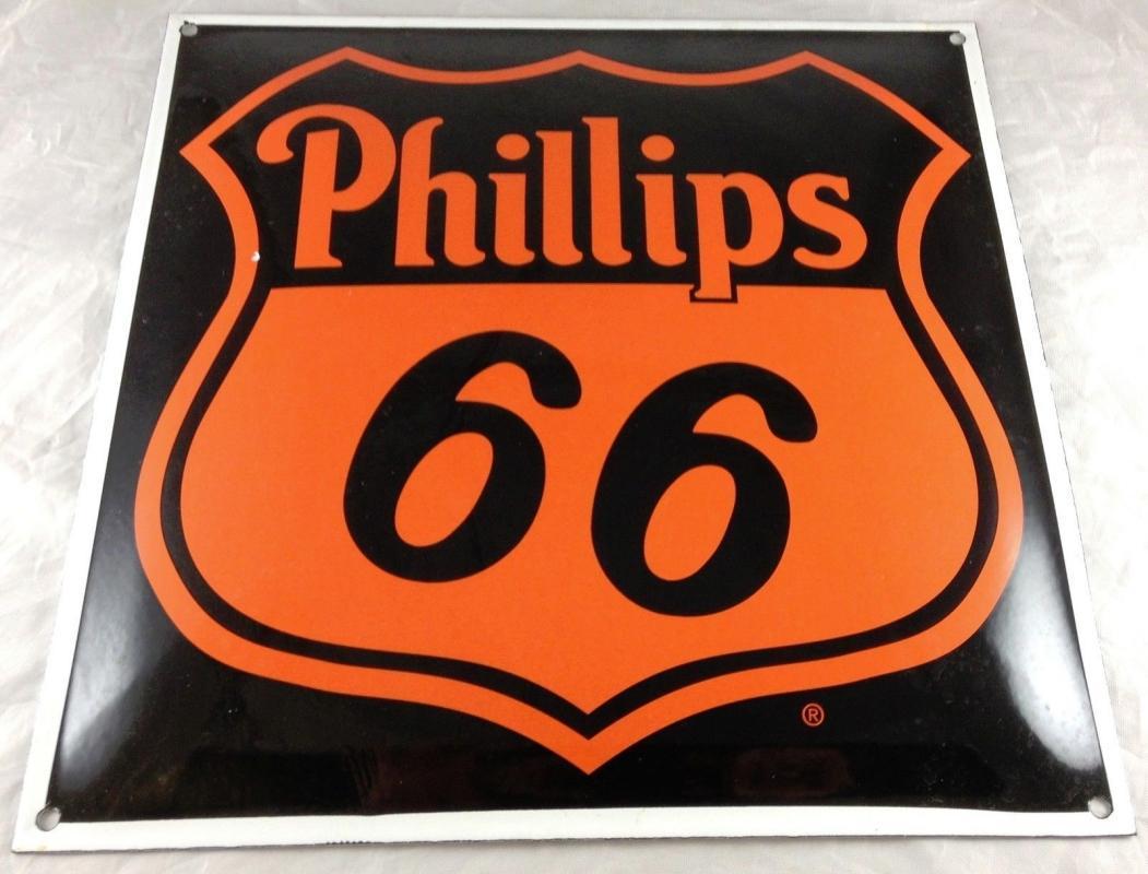 PHILLIPS 66 BLACK & ORANGE SHIELD LOGO 12