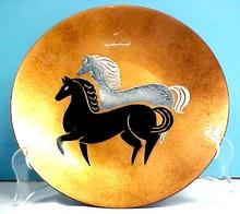 Enamel Horse Plate