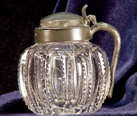 Old Rare Small Cut Glass Pitcher & Top