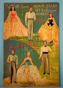 1941 Movie Stars Hollywood Paper Dolls