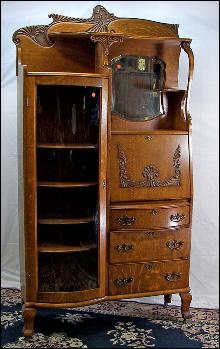 Oak Secretary Bookcase