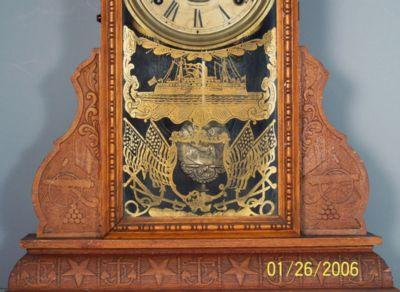 Admiral Dewy Oak Kitchen Clock
