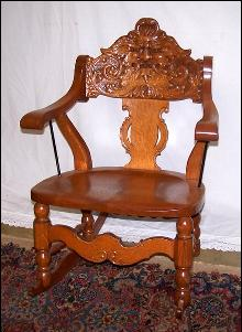 Carved Oak Rocking Chair