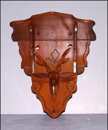 Walnut Deer Head Shelf
