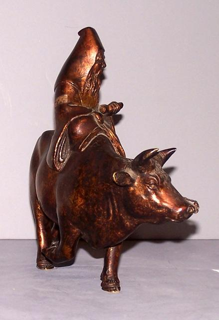 Oriental Bronze Bull and Man