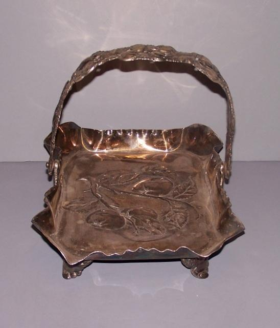 Pairpoint Silver Plate Basket
