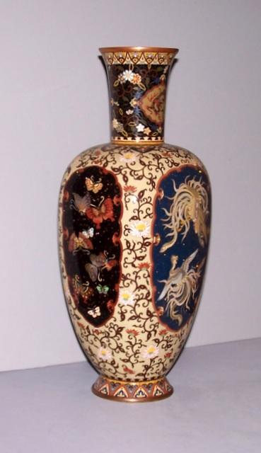 Cloisonné Vase with Dragons
